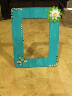 Decorated wooden picture frame. #1