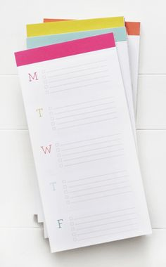 Love these notepads!