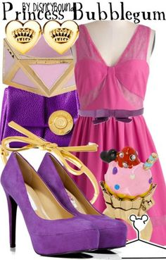 Inspired by Princess Bubblegum from Adventure Time (via Disneybound) Disneybound Outfits, Disney Outfits, Emo Outfits, Cartoon Outfits, Princess Bubblegum Cosplay, Nerd Mode, Adventure Time Clothes, Adventure Time Princesses, Disney Inspired Fashion