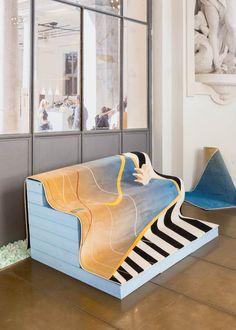 Exhibition design for Swiss Love Design, an exhibition organized by ProHelvetian during Milan Design Week, photo : Raphaëlle Mueller,
