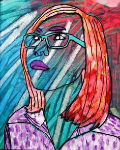 Reverse painting acetate self portraits art education Classroom Art Projects, School Art Projects, Art Classroom, School Ideas, Classroom Ideas, Self Portrait Kids, Portraits For Kids, Student Self Portraits, Portrait Acrylic