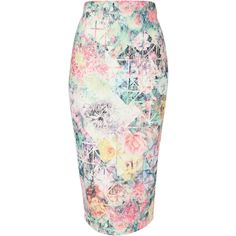 Jane Norman Floral Print Lace Pencil Skirt ($21) ❤ liked on Polyvore featuring skirts, bottoms, pencil skirt, floral lace skirt, zipper pencil skirt, floral print pencil skirt and white pencil skirt