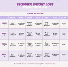 Beginner Weight Loss Exercise Plan