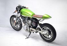 Lean and Green - MotoHangar Virago XV750 via returnofthecaferacers.com
