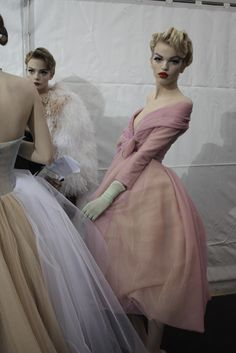 Daphne Groeneveld at Dior Couture by John Galliano.  Dior Backstage, Spring Summer 2011.