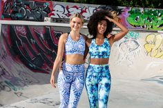 These unique leggings are truly eye-catching, featuring all the colours of a beautiful lagoon in a tie-dye pattern. The light blue tones are totally squat-proof for lunging, stretching and bending throughout your session.  Cut from soft 360-degree stretch LYCRA fabric, our full-length Lagoon leggings are suitable for any workout including running, gym or dance. The high elasticated drawstring waistband tucks your tummy in and won't roll down or dig in.