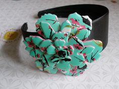 Aluminum Blooms Headband with 3 Large Flower Snaps (Coke, Arizona, Monster) recycled aluminum cans