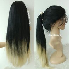 """#productdisplay #AprilLaceWigs #wigs #humanhairwigs Item No.: LW0072 Hair type: Malaysian virgin Hair texture: straight Length: 24"""" Hair color: color1 fade into color 2 Cap construction:  full lace with silk top Density: 150% Price:  around 550$ Handling time: 25 days #hairfashion #wigfashion #wigslayed #wiginstall #africanamericanhair #fulllacewigs #beautifulhair #silktopwigs #humanhairwigs #hair #wig #lacewigs #lacefrontwigs #gluelesswig"""