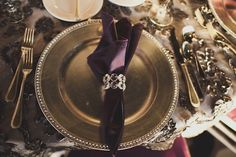 blinged out table setting