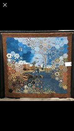 Quilting Projects, Quilting Designs, Quilt Blocks Easy, Watercolor Quilt, One Block Wonder, Millefiori Quilts, Landscape Art Quilts, Kaleidoscope Quilt, Quilt Modernen