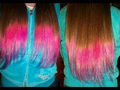 how to dip dye hair