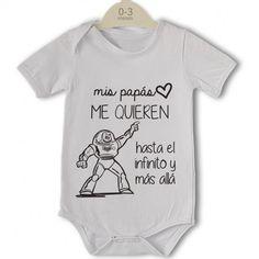 Body original para Bebé, mis papás me quieren - La mejor Calidad y exclusivo de lacestamagica.com