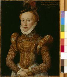Bildnis der Anna Maria Kain, vermählte von Annaberg (Gemälde)  Inventarnummer: Gm634 Hersteller: Schöpfer, Hans der Jüngere Datierung: 1571