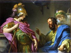 Alcibiades Being Taught by Socrates by Francois-Andre Vincent 1777 Musee Fabre