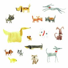 Dog Doodles by Stella Baggott, via Flickr