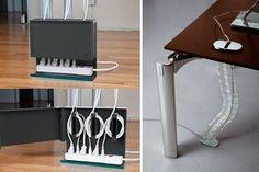 | Pasacables para escritorio: cómo ocultar el antiestético cableado - Pc Gaming Setup, Gamer Room, Electrical Wiring, Workplace, Home Office, Magazine Rack, Desk, Organization, Cabinet