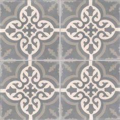 Lot de 4 carreaux de ciment Trouville gris et aubergine, l.40 x L.40 cm | Leroy Merlin