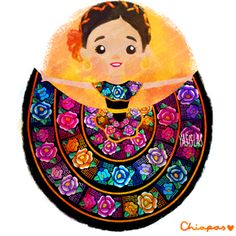 Traditional dresses from Mexico Mexican Artwork, Mexican Paintings, Mexican Folk Art, Mexican Style, Traditional Mexican Dress, Traditional Dresses, Mexican Crafts, Mexico Culture, Mexico Art