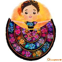 México colores y diseños de sus trajes típicos Chiapas