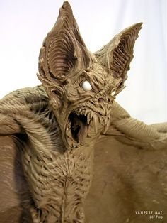 Vampire Bat done in Monster Clay Standard Grade by master sculptor - Jason Hite
