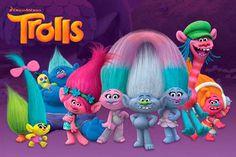 Póster Trolls, personajes. 61 x 91,5 cm  Póster perteneciente a la película de animación Trolls.