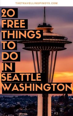 20 Free Things To Do In Seattle Free things to do in Seattle, Washington. Your guide to free things to do and must see interesting and fun places in Seattle, Washington. Seattle Vacation, Seattle Travel, Seattle Sights, Seattle Washington, Washington State, Travel Photographie, Us Destinations, Travel Inspiration, Travel Ideas