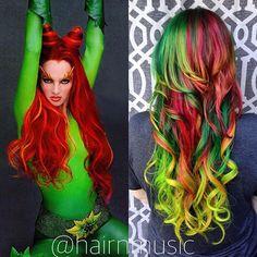 #btconeshot_color16 #btconeshot_rainbow16 #btconeshot_transformations16 #btconeshot_haircolor16 #btconeshot_hairpaint16 #btconeshot_curls16 #btconeshot_extensions16 #posionivy #rainbowhair #mermicorn #unicornhair #unicorn #mermaid #magicalhair #vivid #modernsalon #behindthechair #btcpics Breezyslist.com @inspirehairstyles #cosplay #comicon #batman #dccomics #inspiration #stylistsupportingstylists