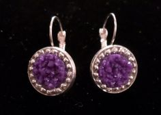Purple Cabochon Silver Leverback Earrings  https://www.etsy.com/listing/213789851/purple-cabochon-and-silver-bead?