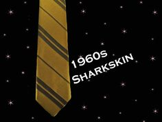 Men's 1960s Sharkskin Thin Tie -  Vintage Gold Neck Tie - Thin Necktie with Subtle Stripes - Rat Pack by LunaJunctionVintage on Etsy