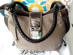 Brighton Colorblock Dovima Soft Pewter Teal Leather Tote Handbag $340 NWT in Box #Brighton #TotesShoppers