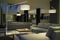 Buy Modern Office and Commercial Furniture & Accessories Arc Floor Lamps, Modern Floor Lamps, Contemporary Office, Contemporary Design, Living Room Lighting Design, Italian Lighting, Commercial Furniture, Fabric Shades, Flooring