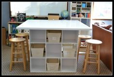 My friend, Leslie, has a craft desk that I have been envying for years. Recently, I saw a similar idea on Pinterest, and it seemed really d...