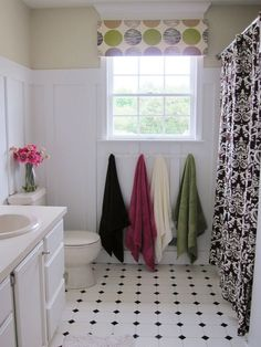 In My Own Style Affordable Bathroom Makeover - Bathroom Remodel Ideas - Country Living ~ very pretty remodel but agree with a comment about towels next to toilet..