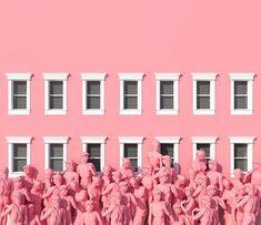 Surreal pink scenes by lee sol - fubiz media coisas cor-de-rosa, rosa chicl Pink Lila, Pastel Pink, Pink Art, Vaporwave, Vintage Pink, Tout Rose, Pink Houses, Everything Pink, Pink Aesthetic