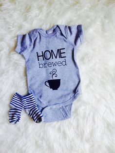 Home brewed onesie/ newborn take home outfit/  by Liljopeepshop