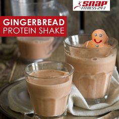 do you think about a gingerbread cookie in a cup? This protein shake ...