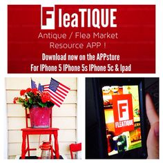 FLEATIQUE - App for Antique Lovers , Pickers , Flea Market shoppers , Junkin , Junkers , Upcycled , Repurposed , etc etc ..... Download on the Appstore now .... Download Link on our FLEATIQUE Pinterest page ! ..... FLEATIQUE is for IPhone 5 IPhone 5S IPhone 5C Ipod Touch 5 IPhone 6 Antique craft crafts crafty etsy antiques flea tique swap meet yard sale 127 roadshow archaeology antiquemall mall store shop clothing clothes retro style design decor hgtv magazine pawn stars american pickers