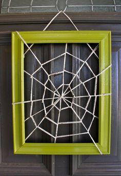 Halloween Door Decor...fun change from a wreath.