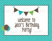Printable Welcome Sign- Blue Cake Collection