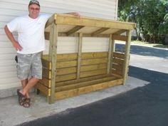 2x8 firewood storage shed plans (Shedking.net)