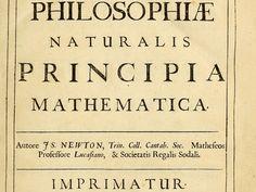 """""""Philosophiæ Naturalis Principia Mathematica"""" by Isaac Newton"""