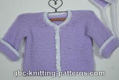 Ravelry: Easy Garter Stitch Baby Cardigan pattern by Elaine Phillips Baby Sweater Patterns, Baby Cardigan Knitting Pattern, Baby Knitting Patterns, Baby Patterns, Crochet Patterns, Vest Pattern, Knit Vest, Knitting Ideas, Knitting Projects