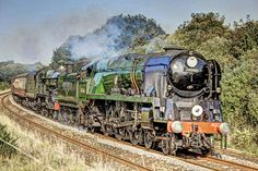 The Atlantic Express steam train passing Chacewater railway station. Attempted to make look like a painting.