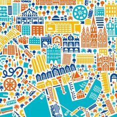Poster Barcelona by Vianina