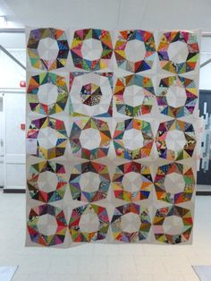 Scrappy Fractal Quilt | by Kelly of the Saskatoon Modern Quilt Guild