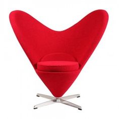 Gift for her, a beautiful lounge chair Something special for someone special Red Heart Chair - Place Furniture