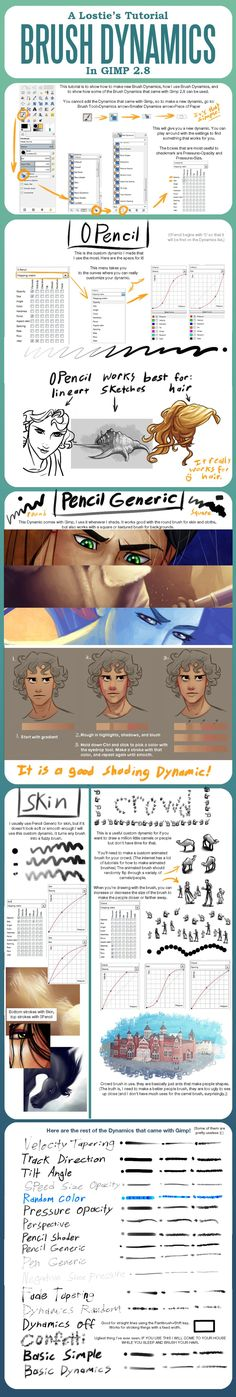 A Lostie's Tutorial - Brush Dynamics in Gimp 2.8 by lostie815.deviantart.com on @deviantART