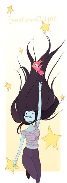 Marceline and Peebles by Immature-Child02.deviantart.com on @deviantART