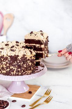Hier findest du ein einfaches, schnelles Rezept für eine feine Mokkatorte #coffeecake