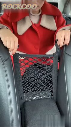 Universal Elastic Mesh Net Trunk Bag Prevents kids or pets in the backseat disturbing your driving!